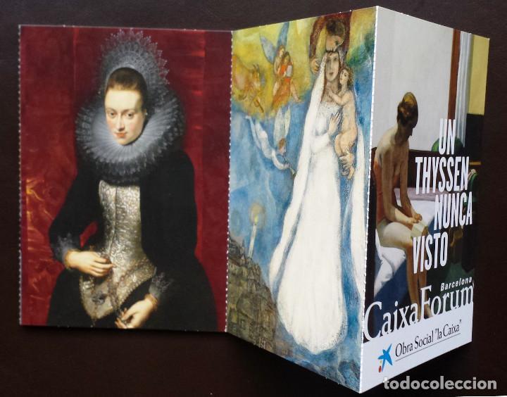 TIRA DE TARJETAS POSTALES CUADROS COLECCIÓN MUSEO THYSSEN EXPOSICIÓN CAIXAFORUM (Postales - Postales Temáticas - Arte)