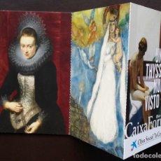 Postales: TIRA DE TARJETAS POSTALES CUADROS COLECCIÓN MUSEO THYSSEN EXPOSICIÓN CAIXAFORUM. Lote 71571623