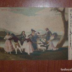Postales: FOTO, POSTAL. GOYA. LA GALLINA CIEGA. LAURENT, MADRID. Lote 73395551