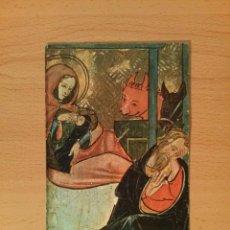 Postales: POSTAL MUSEO DE ARTE DE CATALUÑA. FRAGMENTO DE TABLA CON LA NATIVIDAD. Nº1. ESCUDO DE ORO. SIN USO.. Lote 75422263