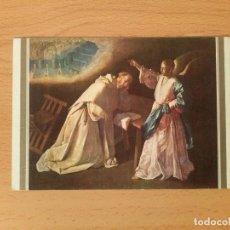 Postales: POSTAL ZURBARAN 1598-1664. VISIÓN DE SAN PEDRO NOLASCO. Nº158. MUSEO DEL PRADO 1236. ESCUDO DE ORO.. Lote 75423523