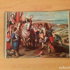 Postales: POSTAL LEONARDO 1605-1656. LA RENDICIÓN DE JULIERS. Nº208. MUSEO DEL PRADO 858. ESCUDO DE ORO.. Lote 75424243