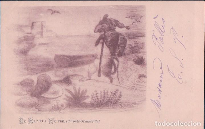 POSTAL LE RAT ET L HUITRE - ESCRITA (Postales - Postales Temáticas - Arte)