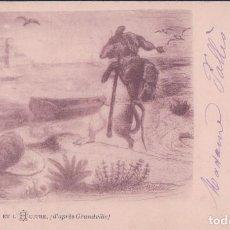 Postales: POSTAL LE RAT ET L HUITRE - ESCRITA. Lote 78453193
