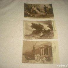 Postales: SALON DE PARIS .LOTE DE 3 POSTALES 3735 ,4338 Y 4670 , SIN CIRCULAR .. Lote 79757985
