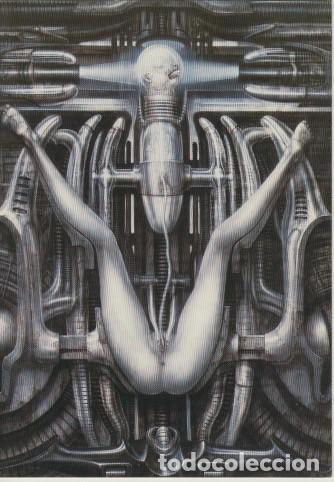 Postales: 32 postales con obras de Hans Rudolf Giger. Ciencia ficción, Alien. - Foto 3 - 82162796