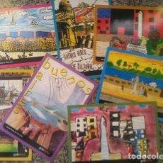 Postales: LOTE 13 POSTALES HECHAS POR NIÑOS - ARGENTINA - MINISTERIO DE EDUCACION - UNICAS. Lote 83583296