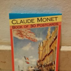 Postales: PACK 30 POSTALES -10*15- CLAUDE MONET - BOOK OF 30 POSTCARDS - MAGNA BOOKS - HOLANDA 1991. Lote 85952140