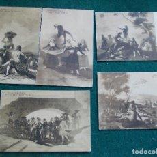Postales: 5 POSTALES ANTIGUAS DE GOYA. Lote 86183152