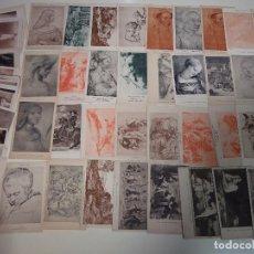 Postales: LOTE COLECCION DE 118 POSTALES DE ARTE. AÑOS 10 30. MUSEO EL LOUVRE, EL PARDO, ROMA, VIENA. 420 GR. Lote 87003552