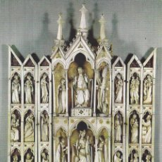 Postales: POSTAL : POLIPTICO DE MARFIL. SIGLO XIV. MUSEO LAZARO.MADRID.. Lote 87692504