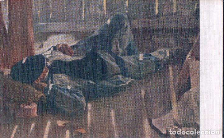 POSTAL LA SIESTA. J.M. LOPEZ. EDC. N. COLI SATIETI 354 - MUSEO ARTISTICO DE BARCELONA (Postales - Postales Temáticas - Arte)