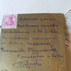 Postales: POSTAL DEL AÑO 1901 MODERNISTA TROQUELADA Y DORADO. Lote 89714340
