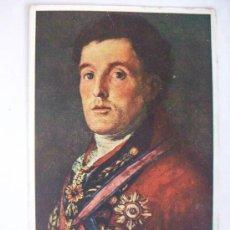 Postales: POSTAL DE LORD WELLINGTON EN LA TOMA DE BADAJOZ DE GOYA. POSTAL INGLESA CON POEMA Y TEXTO EN ESPAÑOL. Lote 156786582