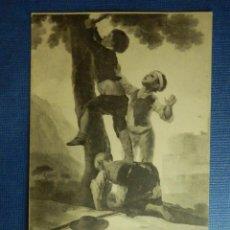 Postales: POSTAL - ESPAÑA - MUSEO DEL PRADO - GOYA - MUCHACHOS TREPANDO AL ARBOL - Nº 803 - FOT. LACOSTE. Lote 91081855