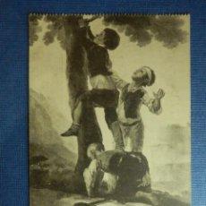 Postales: POSTAL - ESPAÑA - MUSEO DEL PRADO - GOYA - MUCHACHOS TREPANDO AL ARBO - Nº 803 - FOTOTOTIPIA J. ROIG. Lote 91098405