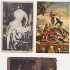 Postales: LOTE DE 3 POSTALES ARTÍSTICAS.. Lote 92352325