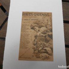 Postales: DULCES CADENAS - POEMA EN CUATRO CANTOS - D. RAMÓN DE CAMPOAMOR 1904. Lote 93919475