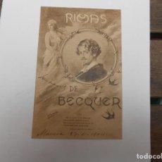Postales: RIMAS DE BÉCKER -1904. Lote 93920000