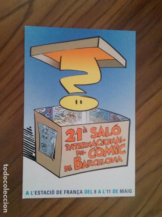 POSTAL. 21 SALO INTERNACIONAL DEL COMIC DE BARCELONA, RARA, SIN USO. BUEN ESTADO (Postales - Postales Temáticas - Arte)