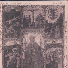 Postales: POSTAL MUSEU EPISCOPAL DE VICH. SERIE C Nº 5. SANTA MAGDALENA. 1071 FOTOTIPIA THOMAS - CIRCULADA. Lote 94979771