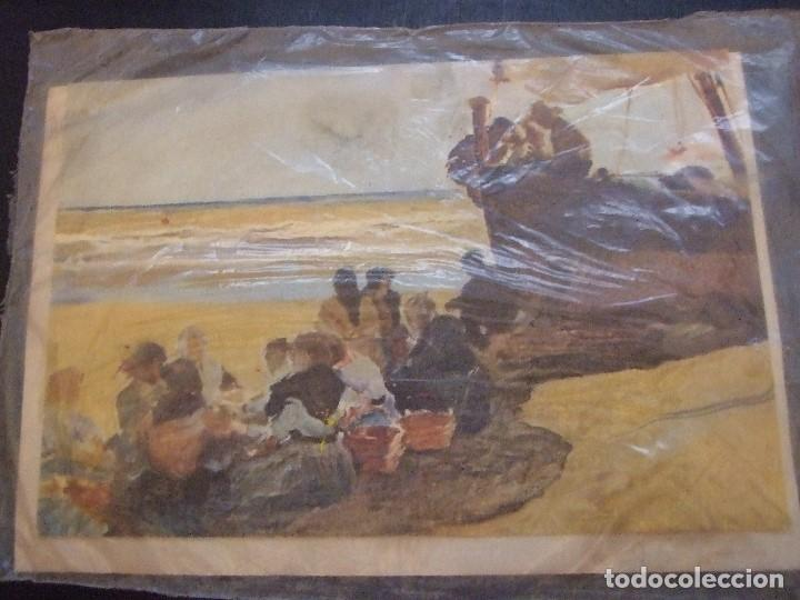 POSTAL PRECINTADA MUSEO SOROLLA MADRID - A LA SOMBRA DE LA BARCA - INGRO 1968 (Postales - Postales Temáticas - Arte)