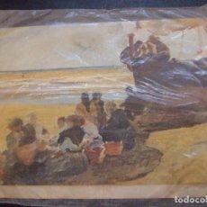 Postales: POSTAL PRECINTADA MUSEO SOROLLA MADRID - A LA SOMBRA DE LA BARCA - INGRO 1968. Lote 95731911