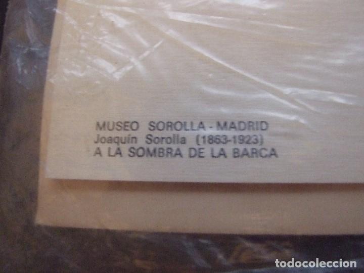 Postales: POSTAL PRECINTADA MUSEO SOROLLA MADRID - A LA SOMBRA DE LA BARCA - INGRO 1968 - Foto 2 - 95731911