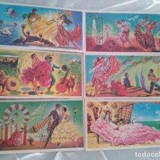 Postales: OCASION ! COLECCION COMPLETA POSTALES SERIE FLAMENCO POSTALCOLOR 1964. Lote 96084027