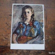 Postales: RETRATO DE WILHELMINE MIT ZOPFEN, SIN CIRCULAR. Lote 96296103