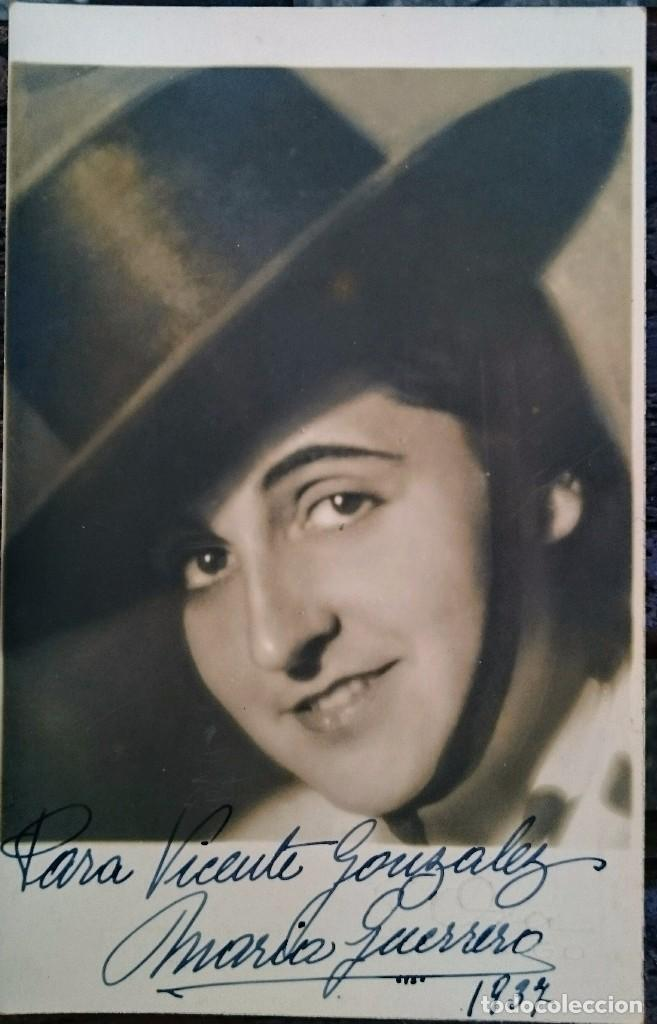 AUTÓGRAFO AÑO 1937 ACTRIZ MARÍA GUERRERO (Postales - Postales Temáticas - Arte)