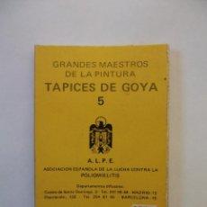 Postales: LOTE DE POSTALES GRANDES MAESTROS DE LA PINTURA. TAPICES DE GOYA Nº 5. POLIOMIELITIS. TDKP12. Lote 98587519