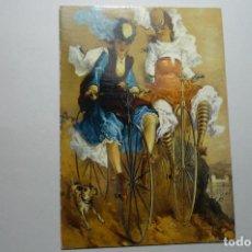 Postales: POSTAL EXTRANJERA JOVENES CICLISTAS . Lote 99356735