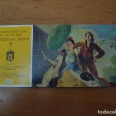 Postales: BLOC DE 10 POSTALES TAPICES DE GOYA. Lote 99679952