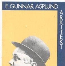 Postales: E. GUNNAR ASPLUND ARQUITECTO. EXPOSICION COLEGIO ARQUITECTOS CATALUÑA 1981 15 X 10,5 CM (APROX). Lote 101455483