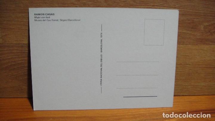 Postales: ramon casas - I feria nacional del dibujo - barcelona 1976 - Foto 2 - 102945407