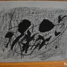 Postales: ANTONI TAPIES - I FERIA NACIONAL DEL DIBUJO - BARCELONA 1976. Lote 102945715