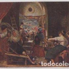Postales: POSTAL DE ARTE. LAS HILANDERAS EN LA REAL FABRICA DE TAPICES. VELAZQUEZ P-ARTE-628. Lote 103742691