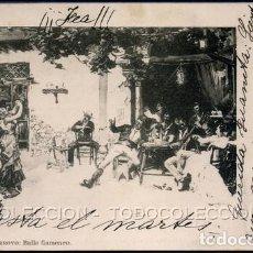 Postales: POSTAL M. ARROYO BAILE FLAMENCO . LAURENT CA AÑO 1899. Lote 103968363