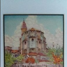 Postales: TARJETA POSTAL. DE UN ORIGINAL ACUARELA ERWIN HUBERT. PLAZA CUADRADO CON LA IGLESIA SAN FRANCISCO. Lote 104824751
