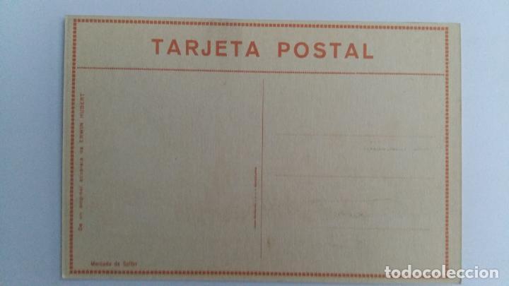 Postales: TARJETA POSTAL. DE UN ORIGINAL ACUARELA ERWIN HUBERT. MERCADO DE SOLLER - Foto 2 - 104824783