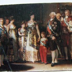 Postales: POSTAL DE. LA FAMILIA DE CARLOS IV GOYA MUSEO DEL PRADO. Lote 106608291