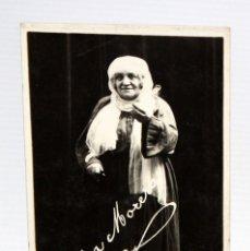 Postales: ANTIGUA FOTO POSTAL DE LA ACTRIZ MARIA MORERA I FRANCO (BARCELONA 1872-1954). ESCENA EN LA VENTAFOCS. Lote 107200039
