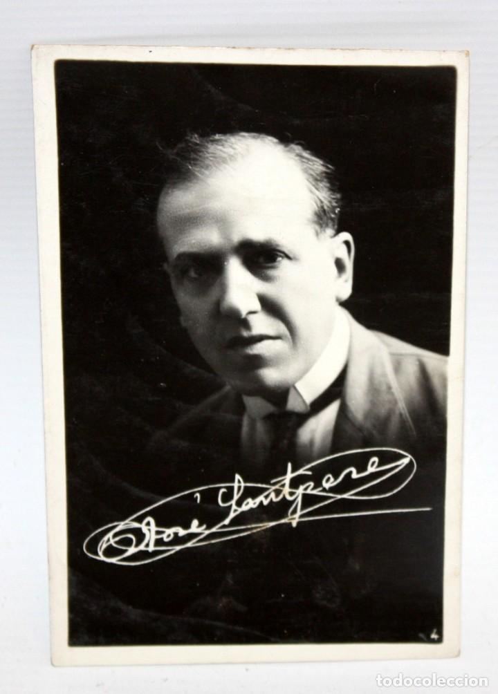 ANTIGUA FOTO POSTAL DEL ACTOR JOSEP SANTPERE (BARCELONA 1875-1939) RETRATO DEL ARTISTA. SIN CIRCULA. (Postales - Postales Temáticas - Arte)