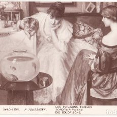 Postales: ANTIGUA POSTAL SALON 1911 - F TOUSSAINT - LES POISSONS ROUGES. Lote 107575747