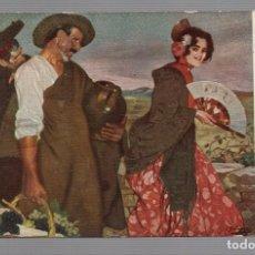 Postales: POSTAL -ARTE/PINTURA ESPAÑOLA - IGNACIO ZULOAGA ZABALETA - EDICIÓN ALEMANA - FLAMENCA - ABANICO. Lote 107927251