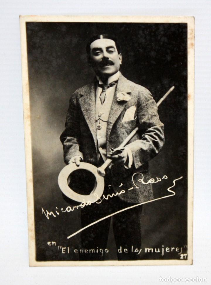 ANTIGUA FOTO POSTAL DEL ACTOR RICARDO SIMO-RASO (EXTREMADURA 1874-SAN SEBASTIÁN 1938). SIN CIRCULAR (Postales - Postales Temáticas - Arte)