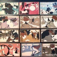 Postales: 12 POSTALES ARTISTA FRANZ LASKOFF POST CARDS. Lote 110126563