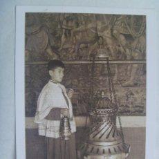 Postales: POSATL DE SANTIAGO DE COMPOSTELA : CATEDRAL Y BOTAFUMEIRO.. Lote 110161227