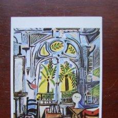 Postales: EL ESTUDIO 1957 PABLO PICASSO SOHO GALLERY LONDRES. Lote 110301191
